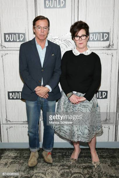 Andy Spade and Kate Spade attend Build Series Presents Kate Spade and Andy Spade Discussing Their Latest Project Frances Valentine at Build Studio on...