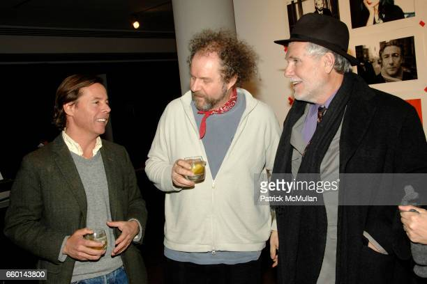 Andy Spade Mike Figgis and Glenn O'Brien attend MILK GALLERY and The Photographers' Gallery Presents Photography Project In New York Photos by MIKE...