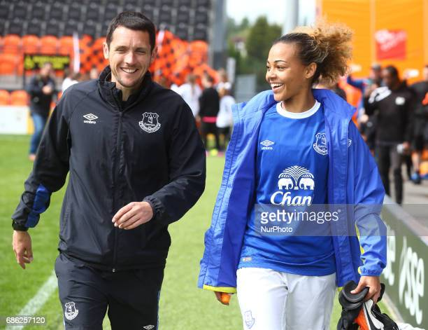 Andy Spence manager of Everton Ladies during Women's Super League 2 Spring Series match between London Bees against Everton Ladies at The Hive Barnet...