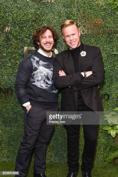 Andy Stewart and Andrew Werner attend Eklund|Gomes 10 Year Anniversary Bash at The Garage in NYC on February 2 2017 in New York City