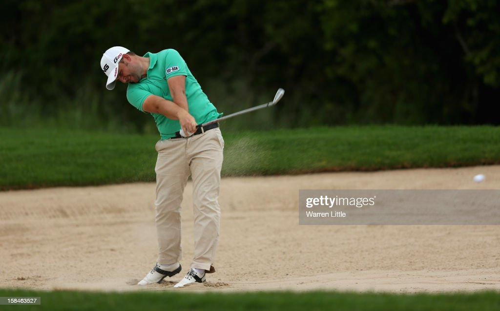 Andy Sullivan of England in action during the final round of the Alfred Dunhill Championship at Leopard Creek Country Golf Club on December 16, 2012 in Malelane, South Africa.