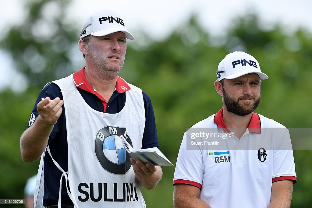 <a gi-track='captionPersonalityLinkClicked' href=/galleries/search?phrase=Andy+Sullivan+-+Golfer&family=editorial&specificpeople=13886721 ng-click='$event.stopPropagation()'>Andy Sullivan</a> of England looks on with his caddie during the final round of the BMW International Open at Gut Larchenhof on June 26, 2016 in Cologne, Germany.