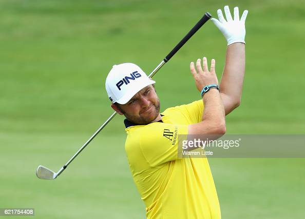 Andy Sullivan of England plays a practice round ahead of the Nedbank Golf Challenge at the Gary Player CC on November 8 2016 in Sun City South Africa