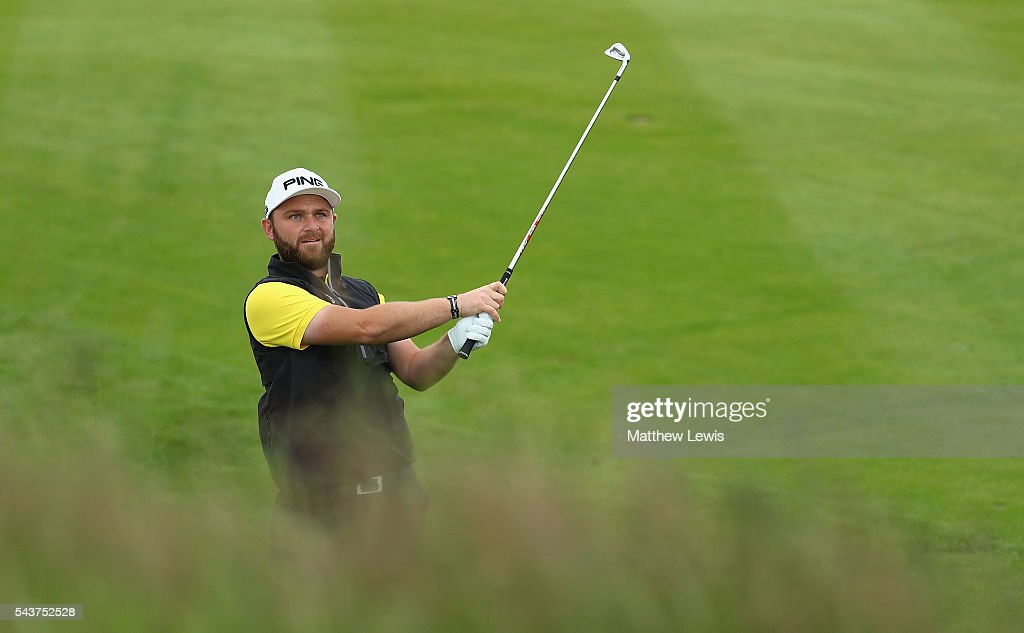 <a gi-track='captionPersonalityLinkClicked' href=/galleries/search?phrase=Andy+Sullivan+-+Golfer&family=editorial&specificpeople=13886721 ng-click='$event.stopPropagation()'>Andy Sullivan</a> of England plays out of the rough during day one of the 100th Open de France at Le Golf National on June 30, 2016 in Paris, France.