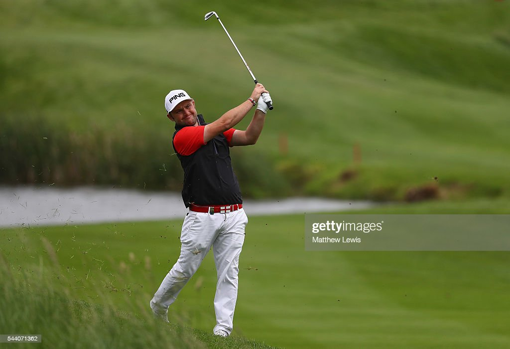 Andy Sullivan of England plays out of the rough during day two of the 100th Open de France at Le Golf National on July 1, 2016 in Paris, France.