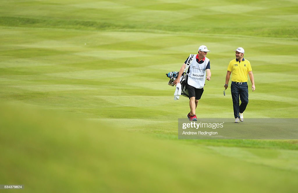 <a gi-track='captionPersonalityLinkClicked' href=/galleries/search?phrase=Andy+Sullivan+-+Golfer&family=editorial&specificpeople=13886721 ng-click='$event.stopPropagation()'>Andy Sullivan</a> of England walks down the 4th hole during day one of the BMW PGA Championship at Wentworth on May 26, 2016 in Virginia Water, England.