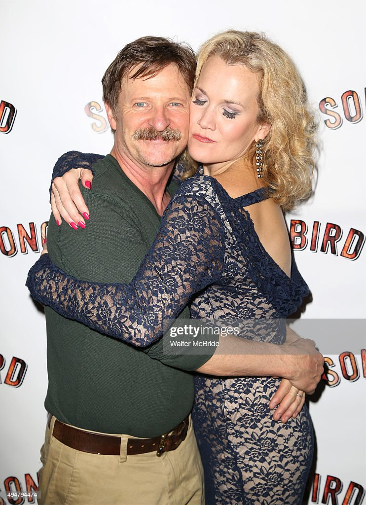 Andy Taylor and Erin Dilly attend the Opening Night after party for the OffBroadway musical 'Songbird' at Johnny Utah's on October 28 2015 in New...