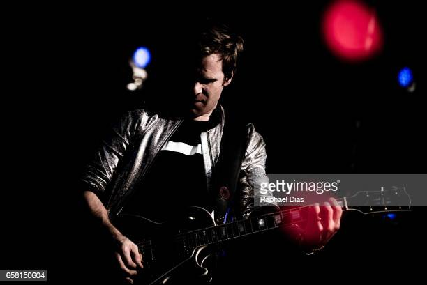 Andy Taylor from Duran Duran performs at Lollapalooza Brazil day 2 at Autodromo de Interlagos on March 25 2017 in Sao Paulo Brazil