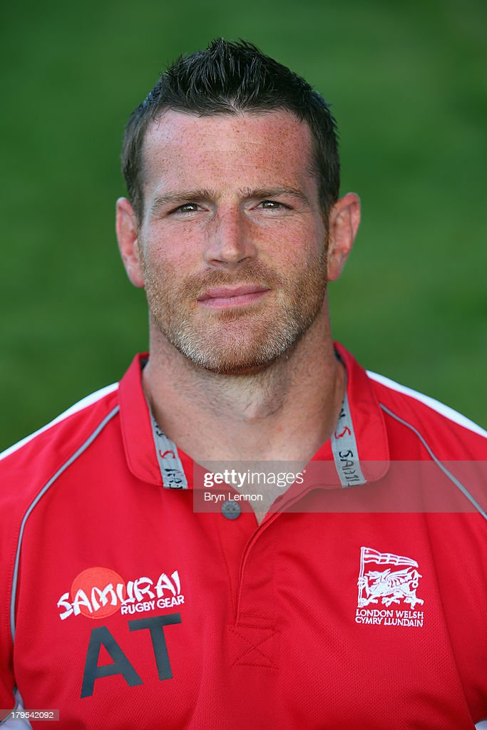 <a gi-track='captionPersonalityLinkClicked' href=/galleries/search?phrase=Andy+Titterrell&family=editorial&specificpeople=214005 ng-click='$event.stopPropagation()'>Andy Titterrell</a> of London Welsh poses for a portrait during a London Welsh Media Day at Kassam Stadium on September 4, 2013 in Oxford, England.