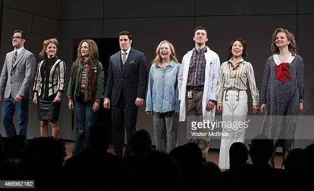 Andy Truschinski Elise Kibler Tracee Chimo Jason Biggs Elisabeth Moss Bryce Pinkham Ali Ahn and Leighton Bryan during the Broadway Opening Night...