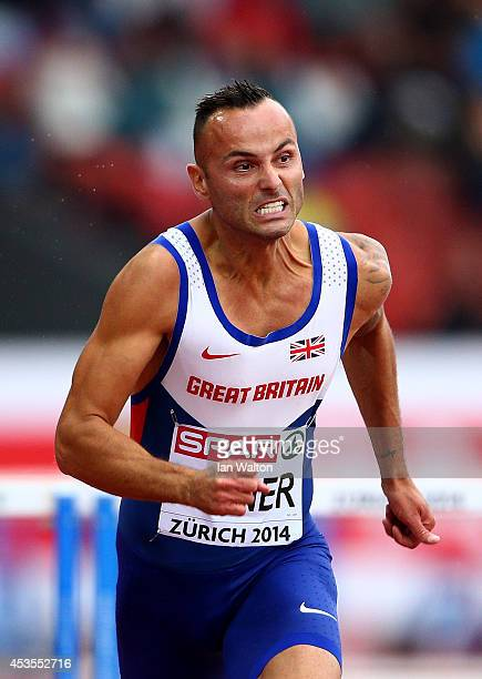 Andy Turner of Great Britain and Northern Ireland competes in the Men's 110 hurdles heats during day two of the 22nd European Athletics Championships...