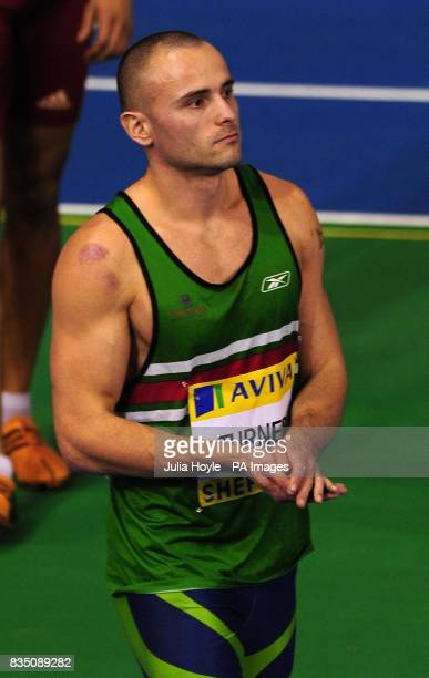 Andy Turner walks off after being disqualified from the Men's 60m Hurdles during Aviva European Trials and UK Championships at the English Institute...
