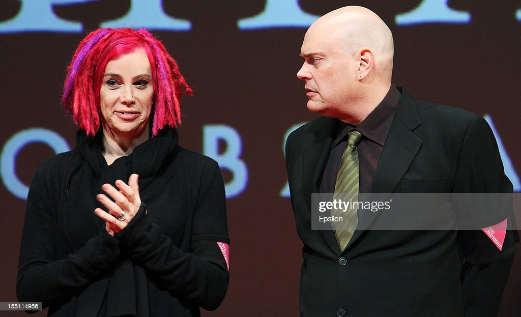 Andy Wachowski and Lana Wachowski arrive at the premiere of Warner Bros. Pictures' 'Cloud Atlas' in Oktyabr cinema hall on November 1, 2012 in Moscow, Russia.
