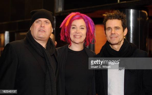 Andy Wachowski Lana Wachowski and Tom Tykwer attends the gala screening of 'Cloud Atlas' at The Curzon Mayfair on February 18 2013 in London England