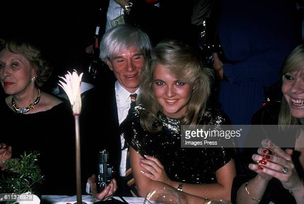 Andy Warhol and Cornelia Guest circa 1983 in New York City