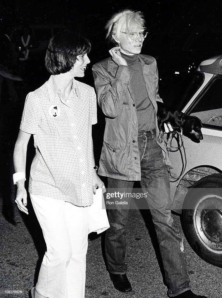 Andy Warhol and friend during Montauk Village Association Benefit Cocktail Party in Montauk Long Island NY United States