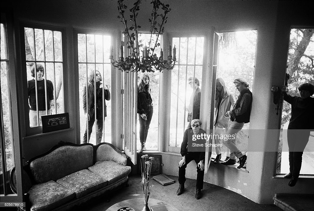 Andy Warhol and Members of the Velvet Underground at Phillip Law's home during the Exploding Plastic Inevitable tour