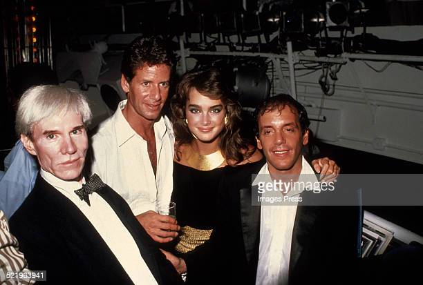 Andy Warhol Calvin Klein Brooke Shields and Steve Rubell at Studio 54 circa 1981 in New York City