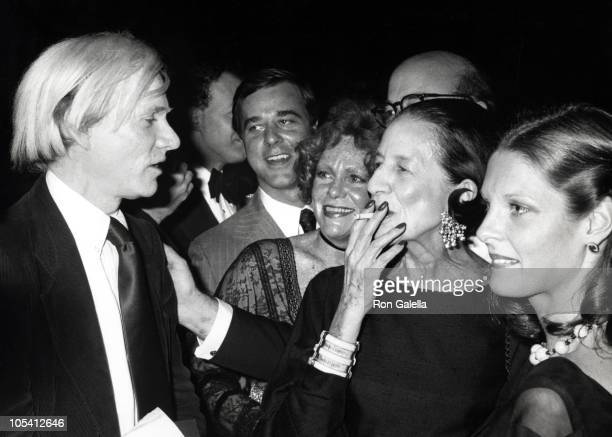 Andy Warhol Diana Vreeland and Guests during 'Folk and Funk Andy Warhol's Folk Art World' Exhibit at Museum of American Folk Art in New York City New...