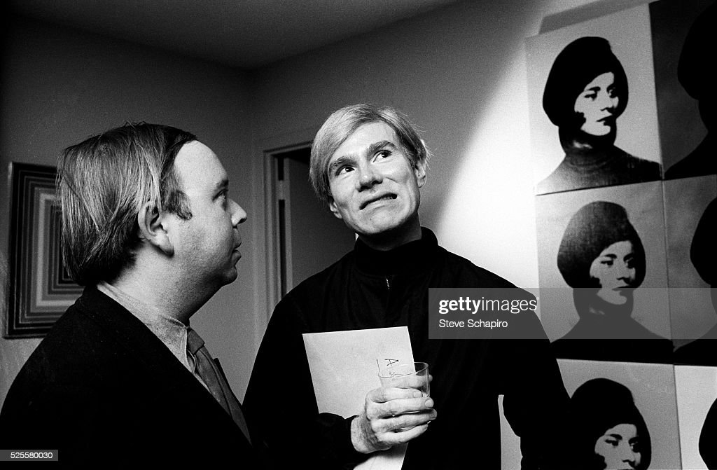 Andy Warhol with Henry Geldzahler