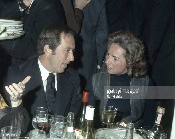 Andy Williams and Ethel Kennedy during Dinner Benefit at Pierre Hotel January 1 1970 at Pierre Hotel in New York City New York United States