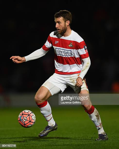 Andy Williams of Doncaster Rovers in action during the The Emirates FA Cup Third Round match between Doncaster Rovers and Stoke City at Keepmoat...