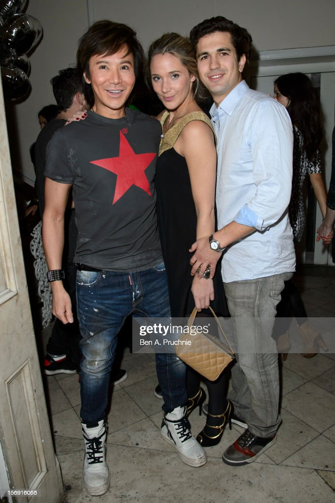 Andy Wong (L) attends the Cuckoo Club and Show Pony pop up club at Grosvenor Place on November 24, 2012 in London, England.