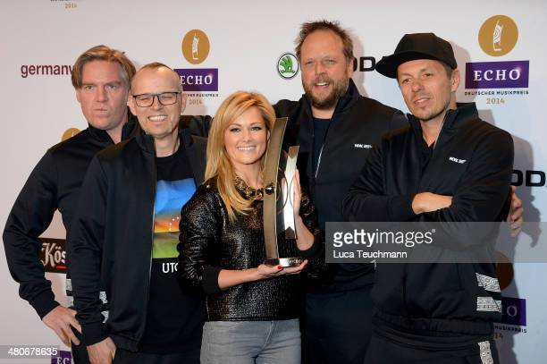 AndYpsilon Thomas D Helene Fischer Smudo and Michi Beck attend Echo Award 2014 Host And ShowAct Photocall at Messe Berlin on March 26 2014 in Berlin...