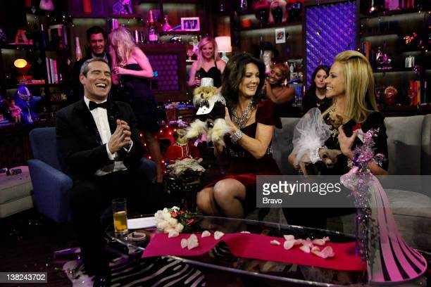 LIVE 'Andy's New Year's Party' Pictured Andy Cohen Lisa VanderPump Dina Manzo