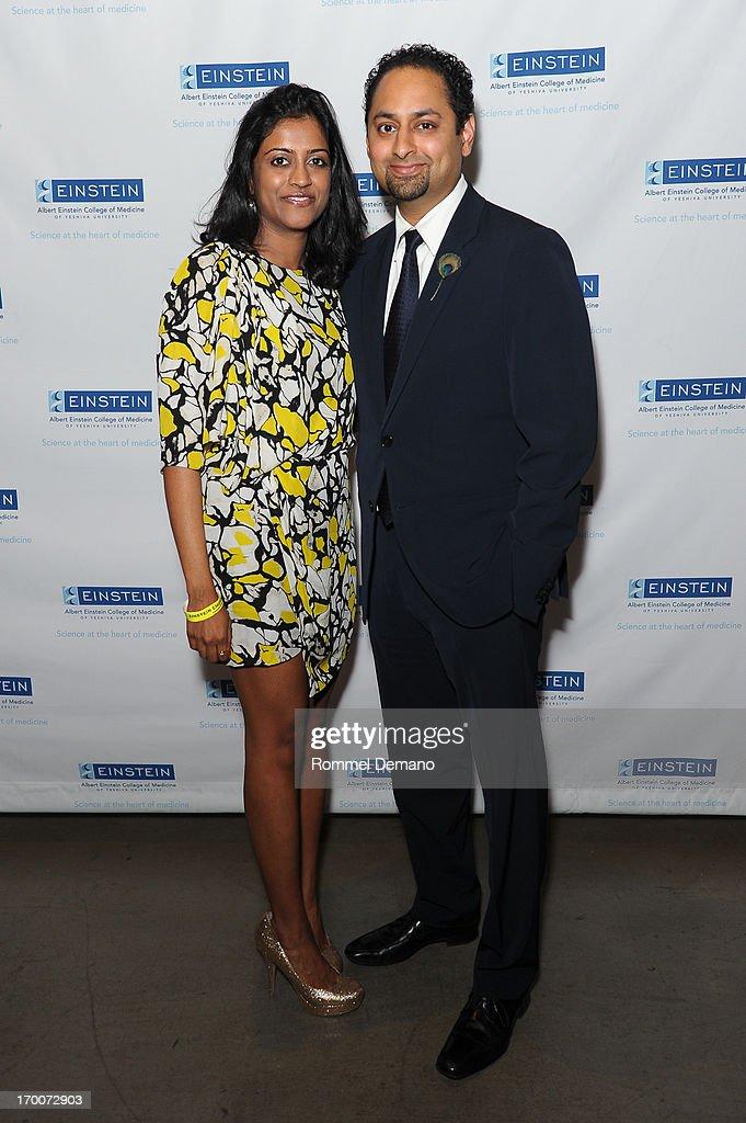 Aneesa Krishnamurthy and Karthik Krishnamurthy attend the Einstein Emerging Leaders 2nd Annual Gala at Dream Downtown on June 6, 2013 in New York City.