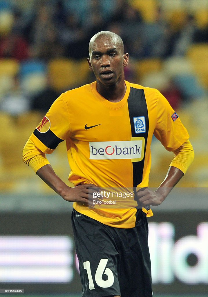 Anele Ngongca of KRC Genk in action during the UEFA Europa League group stage match between FC Dynamo Kyiv and KRC Genk held on September 19, 2013 at the Olympic Stadium, in Kiev, Ukraine.