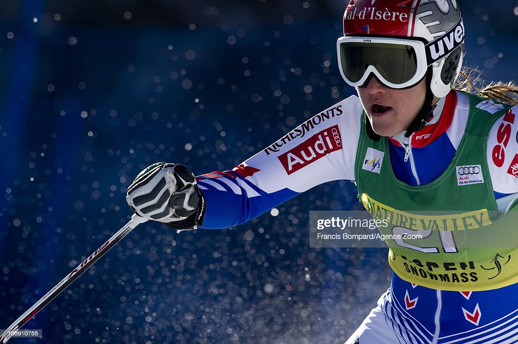 Anemone Marmottan of France competes during the Audi FIS Alpine Ski World Cup Women's Giant Slalom on November 24, 2012 in Aspen, Colorado.