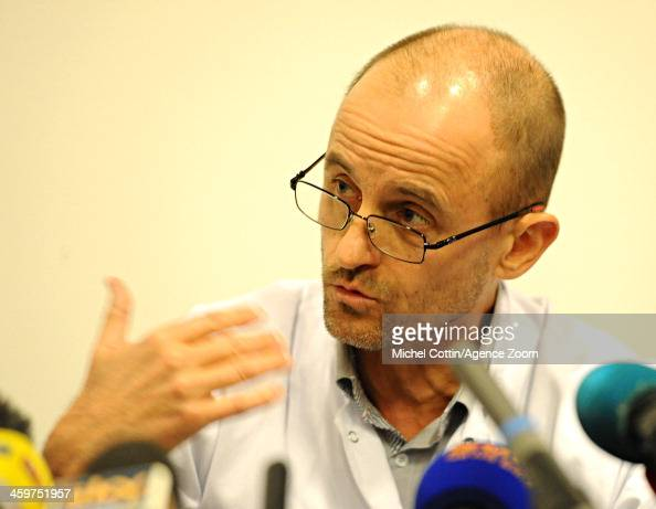... Anesthetist Jean Francois Payen is seen during a press conference at ... - anesthetist-jean-francois-payen-is-seen-during-a-press-conference-at-picture-id459751957?s=594x594