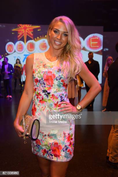 Aneta Sablik attends the Thomas Rath show during Platform Fashion July 2017 at Areal Boehler on July 23 2017 in Duesseldorf Germany