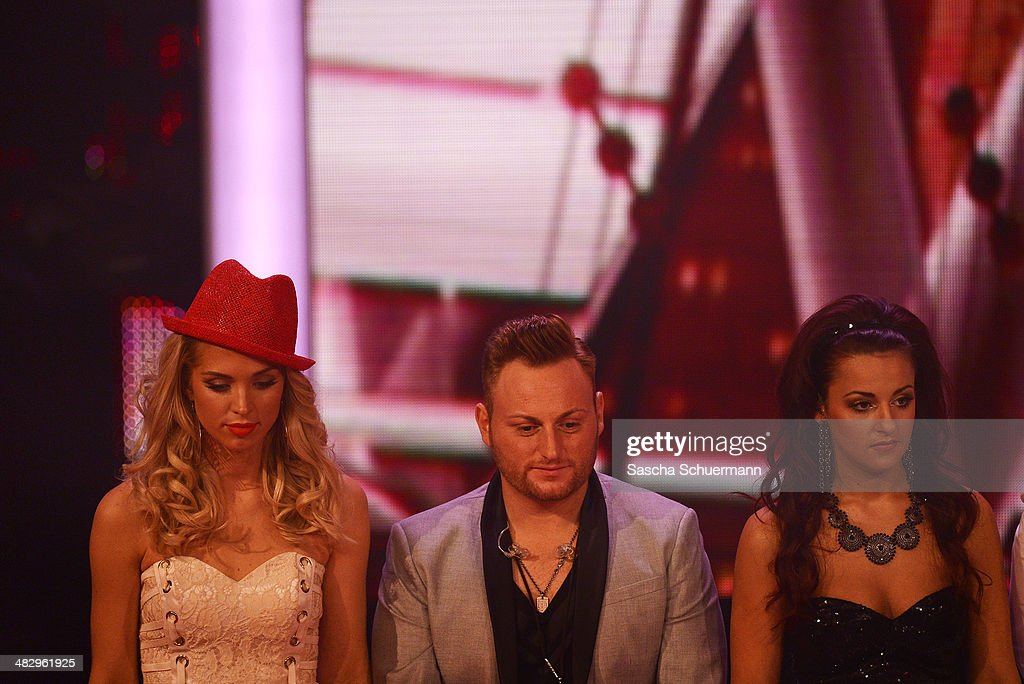 Aneta Sablik, Daniel Ceylan and Yasemin Kocak attend the rehearsal performs at the rehearsal for the 2nd 'Deutschland sucht den Superstar' (DSDS) show at Coloneum on April 5, 2014 in Cologne, Germany.