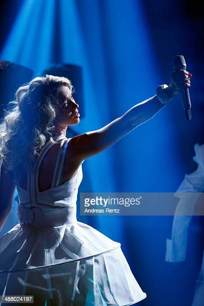 Aneta Sablik performs during the final of the 'Deutschland sucht den Superstar' show at Coloneum on May 3 2014 in Cologne Germany