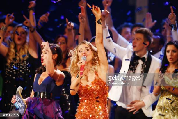 Aneta Sablik performs on stage during the final of the 'Deutschland sucht den Superstar' show at Coloneum on May 3 2014 in Cologne Germany