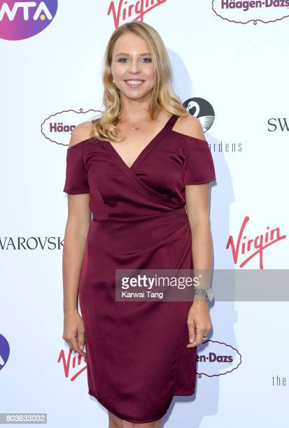 Anett Kontaveit attends the WTA PreWimbledon party at Kensington Roof Gardens on June 29 2017 in London England