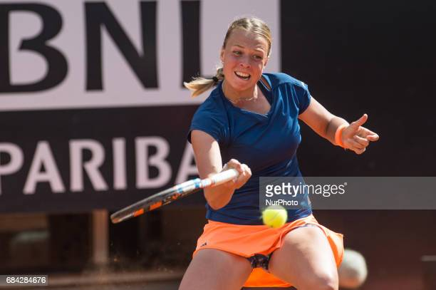 Anett Kontavelt in action during the match between Angelique Kerber vs Anett Kontaveit at the Internazionali BNL d'Italia 2017 at the Foro Italico on...