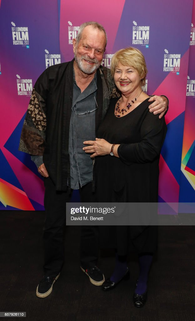 Anette Badland and Terry Gilliam attend a screening 'Jabberwocky' during the 61st BFI London Film Festival on October 5, 2017 in London, England.