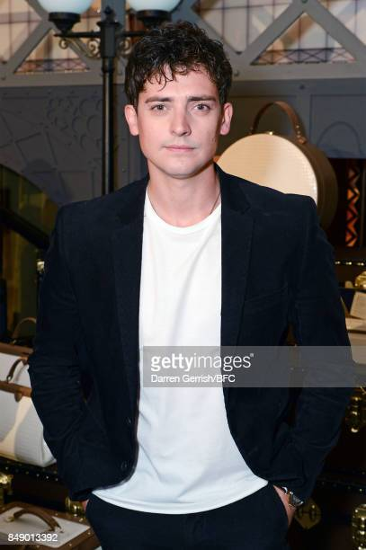 Aneurin Barnard attends the Aspinal of London presentation during London Fashion Week September 2017 on September 18 2017 in London England