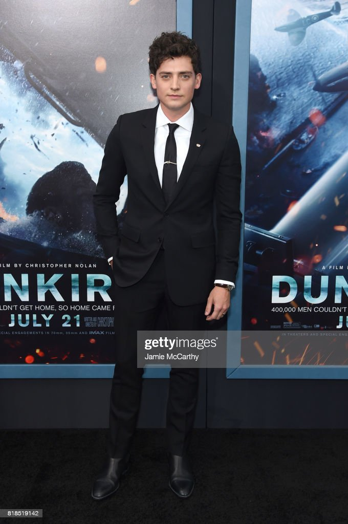 Aneurin Barnard attends the 'DUNKIRK' New York Premiere on July 18, 2017 in New York City.