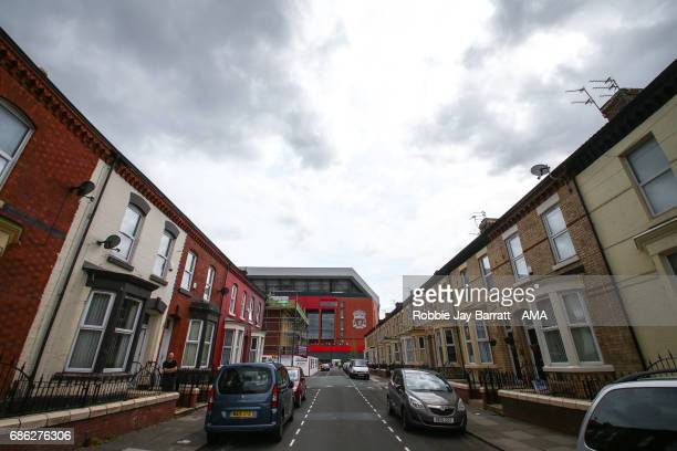 Anfield the home stadium of Liverpool prior to the Premier League match between Liverpool and Middlesbrough at Anfield on May 21 2017 in Liverpool...