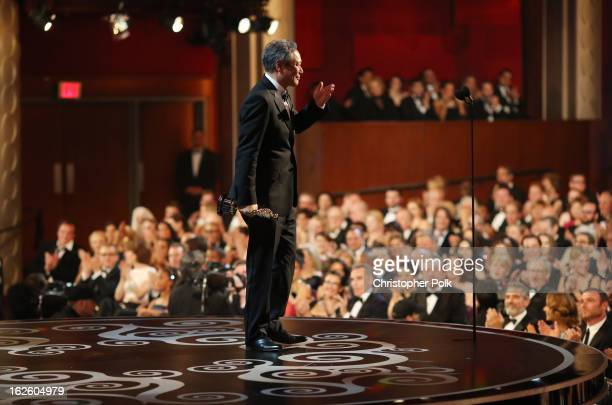 Ang Lee accepts the award for Best Director onstage during the Oscars held at the Dolby Theatre on February 24 2013 in Hollywood California