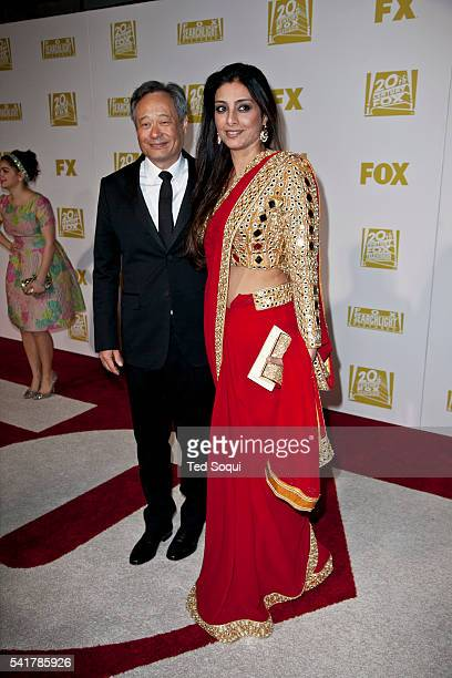 Ang Lee and Tabu Fox after party for the Golden Globes Awards at the Beverly Hilton Hotel