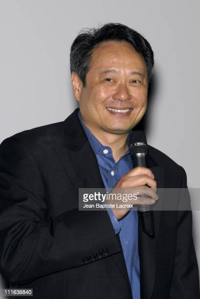 Ang Lee Director during 'The Hulk' Premiere Paris at UGC Bercy in Paris France