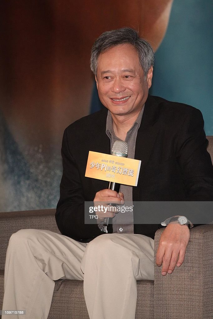 Ang Lee held press conference for 'Life of Pi' on Saturday January 19,2013 in Taipei Taiwan, China.