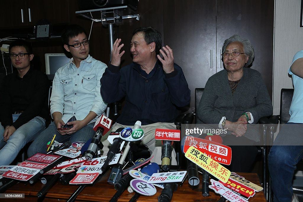 Ang Lee's family watched 85th Annual Academy Awards live broadcast and waited for the final results of best director award on Monday February 25,2013 in Taipei Taiwan,China.