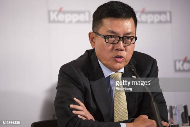 Ang Wee Gee chief executive office of Keppel Land Ltd speaks during a news briefing in Singapore on Thursday July 20 2017 Keppel Corpsaid its going...