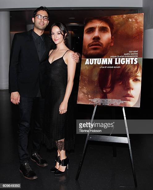 Angad Aulakh and Marta Gastini attend the Screening of Freestyle Releasing's 'Autumn Lights' at NeueHouse Hollywood on September 21 2016 in Los...